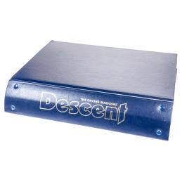 Descent old-style blue binder